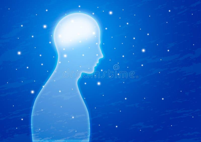 Genius. Human brain genius power illustration vector illustration