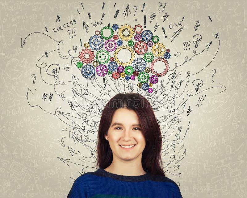 Genius woman stock photo