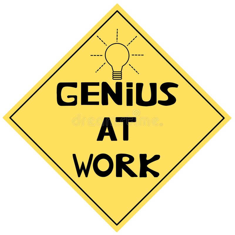 Download Genius At Work stock illustration. Illustration of humor - 7515097