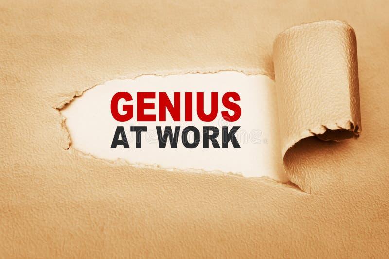 Genius At Work stock photography