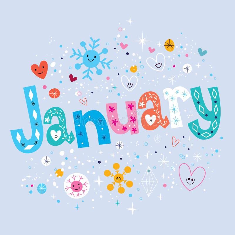 gennaio royalty illustrazione gratis