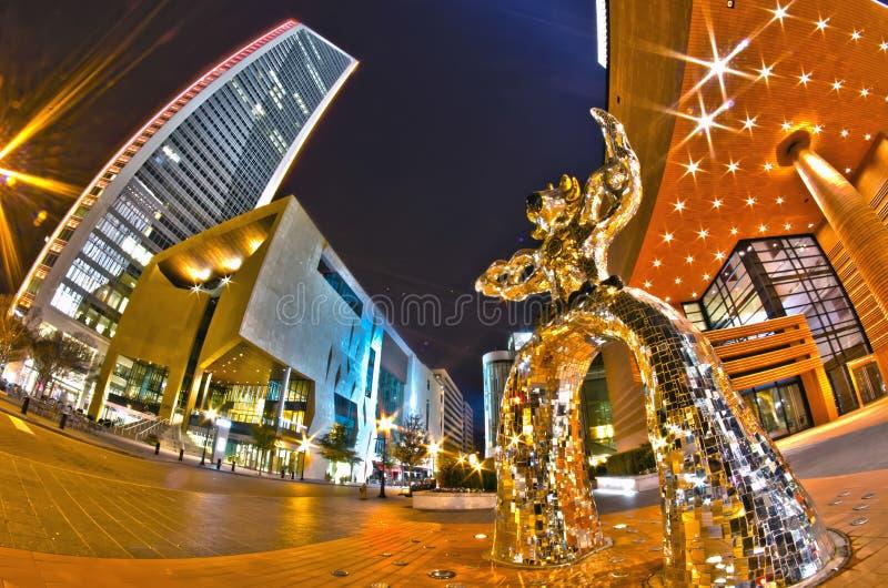 1° gennaio 2014, Charlotte, nc, S.U.A. - vita notturna intorno a charlot fotografia stock libera da diritti