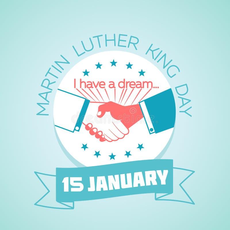 15 gennaio Martin Luther King Day illustrazione vettoriale