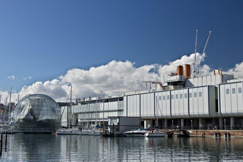 genoa Старый порт и аквариум стоковые изображения