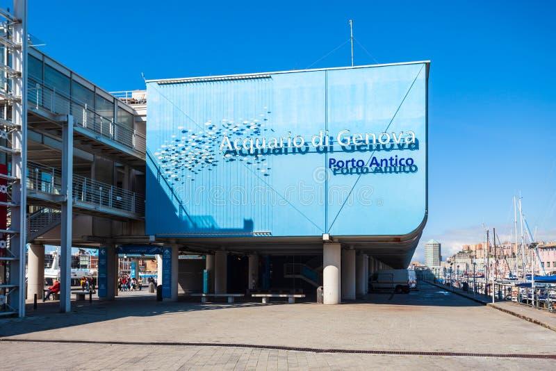 Genoa Aquarium, più grande in Italia fotografie stock libere da diritti