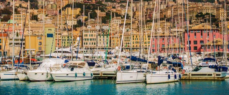 Genoa Capital de Liguria fotografia de stock royalty free