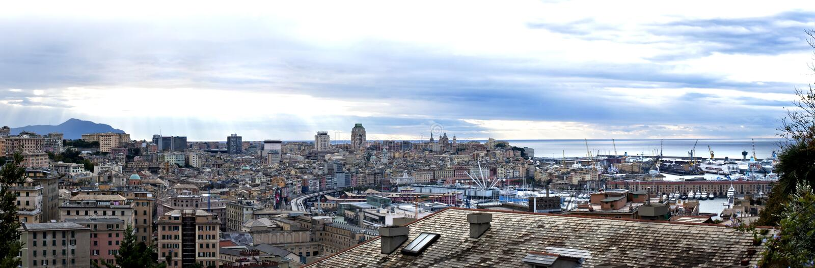 Download Genoa From The Heights Of The City Stock Photo - Image: 17034874