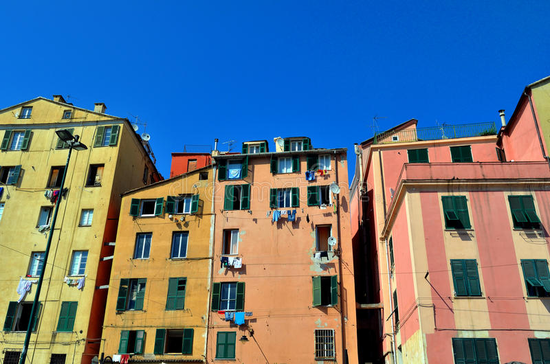 Genoa houses royalty free stock photo
