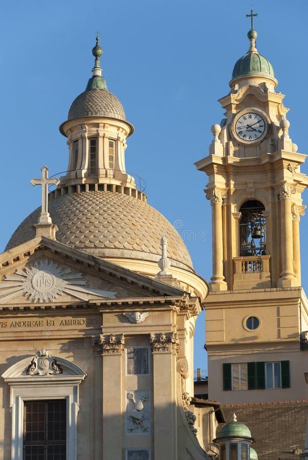Genoa, Italy. Architecture building cityscape in Genoa Italy stock image