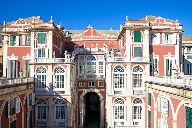 Royal palace. At Genoa - Italy, On april, 02, 2018 - the royal palace stock photo