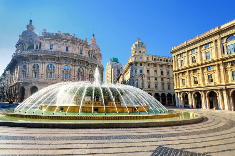Genoa, Italy. Central square of Genoa, Italy royalty free stock images