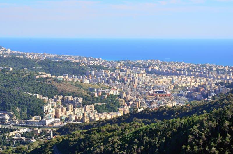 Genoa, Italy. Cityscape of Genoa,liguria, Italy stock photography