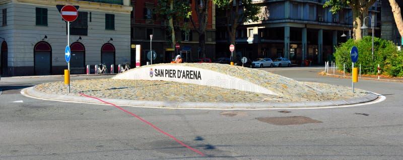 Genoa Italy Delegation av San arena för pir D ' royaltyfria foton