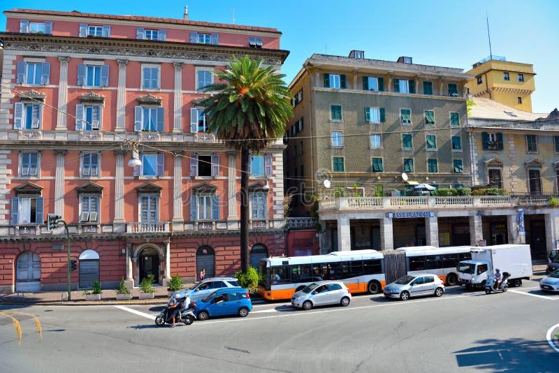 Genoa Italy Delegation av San arena för pir D ' fotografering för bildbyråer