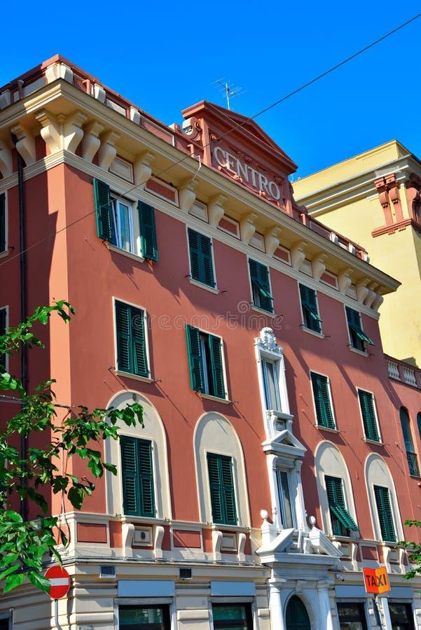 Genoa Italy Delegation av San arena för pir D ' arkivfoto