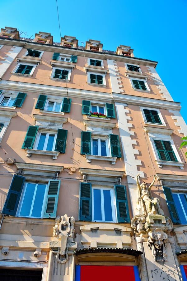 Genoa Italy Delegation av San arena för pir D ' royaltyfri fotografi