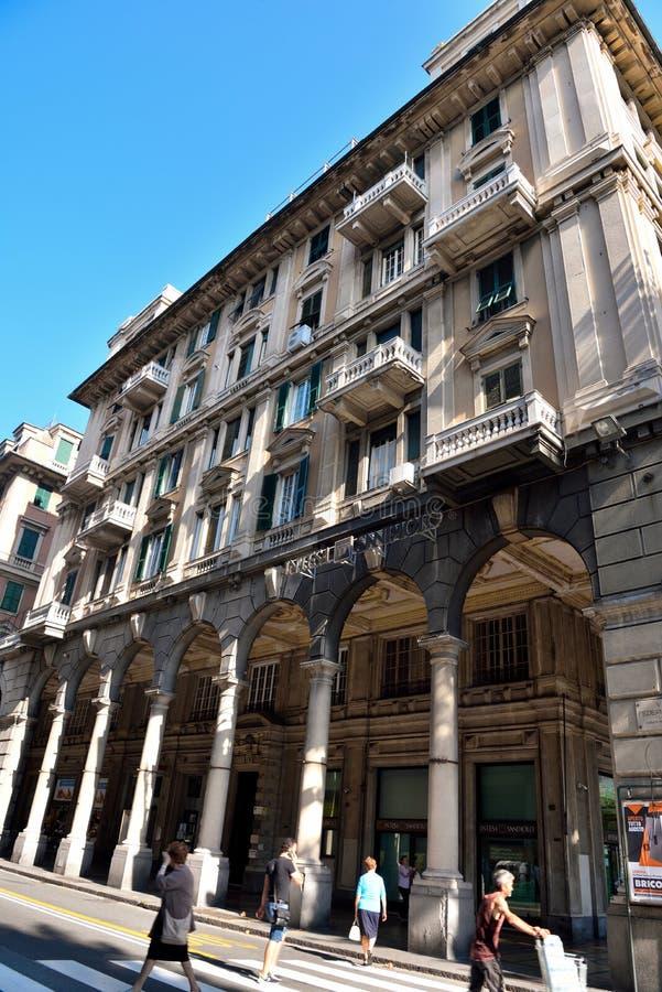 Genoa Italy Delegation av San arena för pir D ' royaltyfri foto