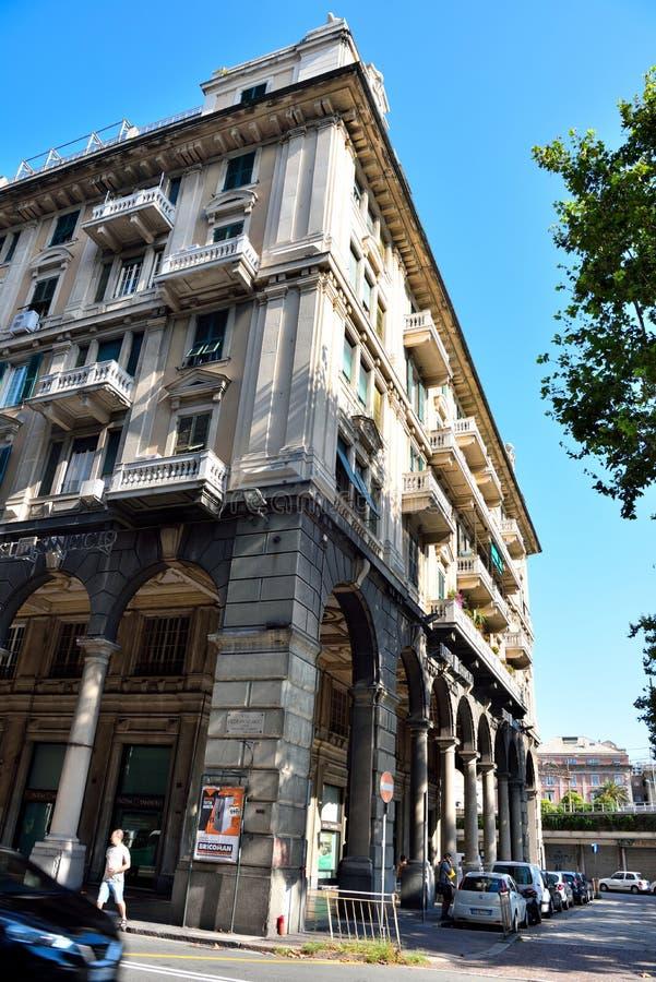 Genoa Italy Delegation av San arena för pir D ' royaltyfria bilder