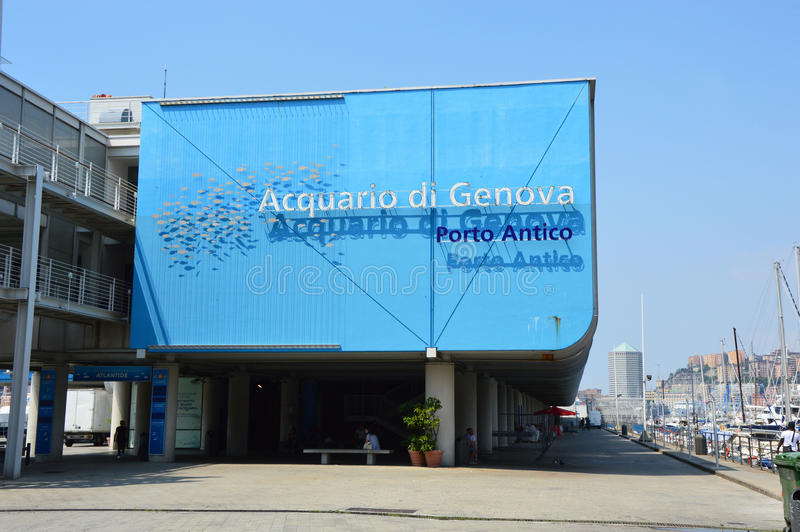 GENOA, ITALY - JUNE 15, 2017: The Aquarium of Genoa is the largest aquarium in Italy and among the largest in Europe stock photos