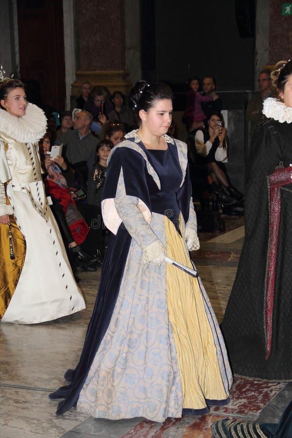 Genoa Italy - reconstitution historique d'une soirée dansante qui a eu lieu à Gênes en 1648 photographie stock libre de droits