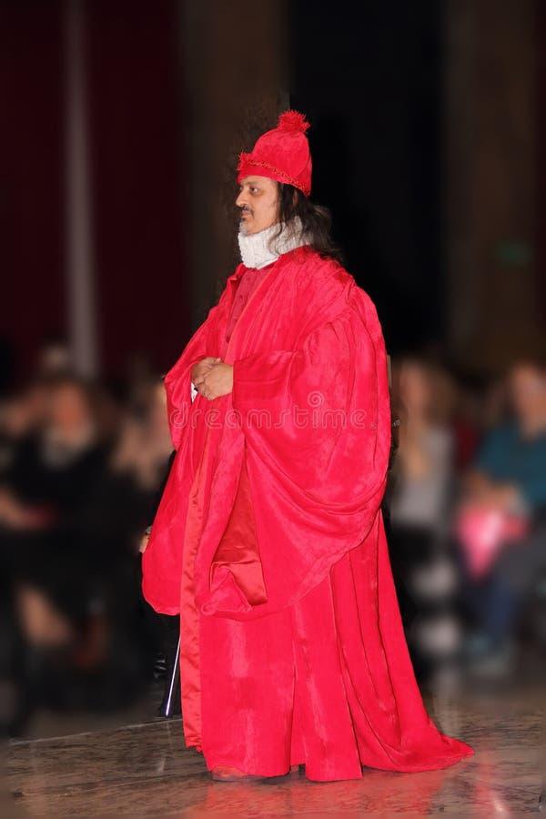 Genoa Italy - reconstitution historique d'une soirée dansante qui a eu lieu à Gênes en 1648 photo libre de droits