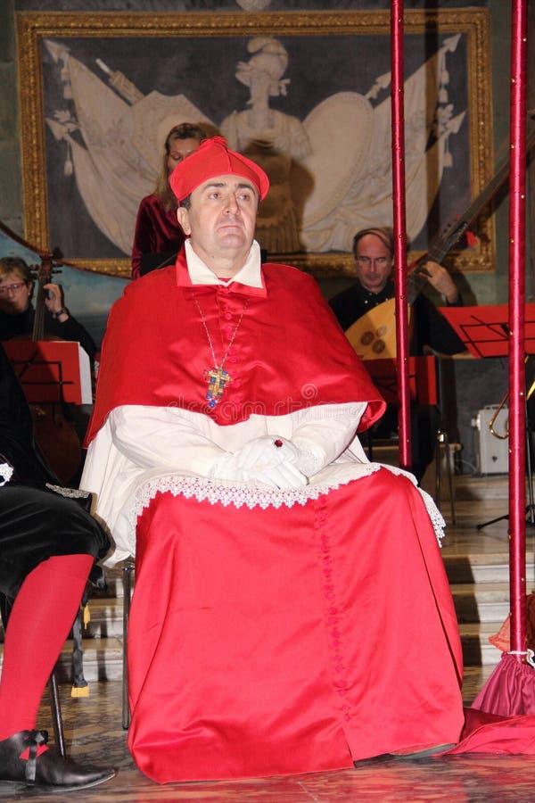 Genoa Italy - reconstitution historique d'une soirée dansante qui a eu lieu à Gênes en 1648 images libres de droits