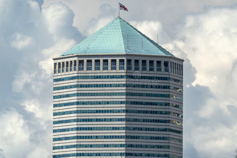 Genoa, Italy skycraper called matitone big pencil. Detail stock photography