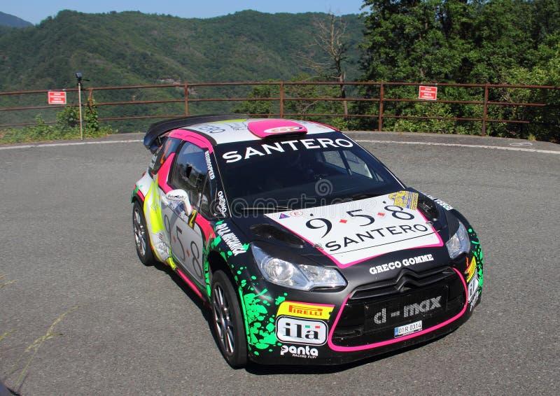 Genoa Italy-31st Rally Della Lanterna June 6th 2015: Citroen DS3 race stock photography