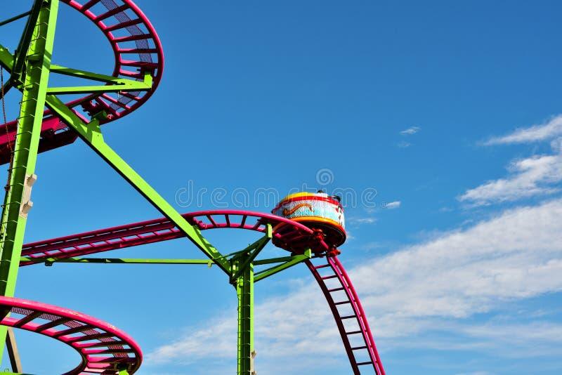 Genoa liguria italy. Roller coaster in Genoa Italy stock photo