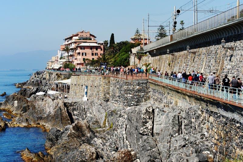 Genoa Nervi, Italia immagine stock libera da diritti