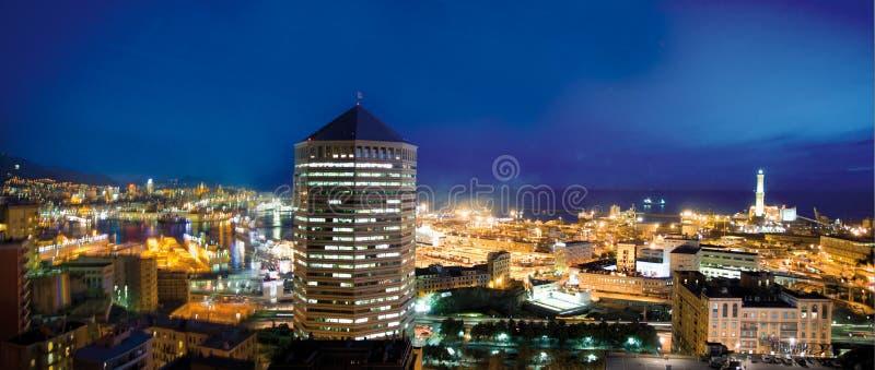 Genoa by night royalty free stock photos