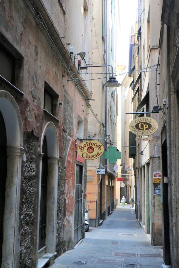 Genoa Old Town, Italia immagini stock