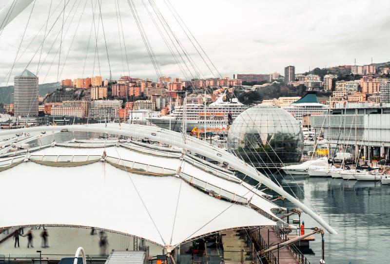 Genoa - Porto Antica arkivfoto
