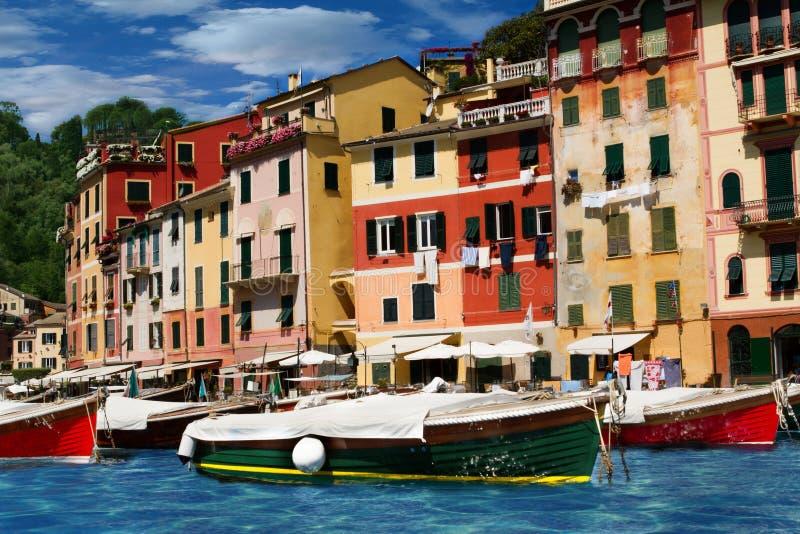 Genoa Portofino. Italian port in riviera ligure stock image