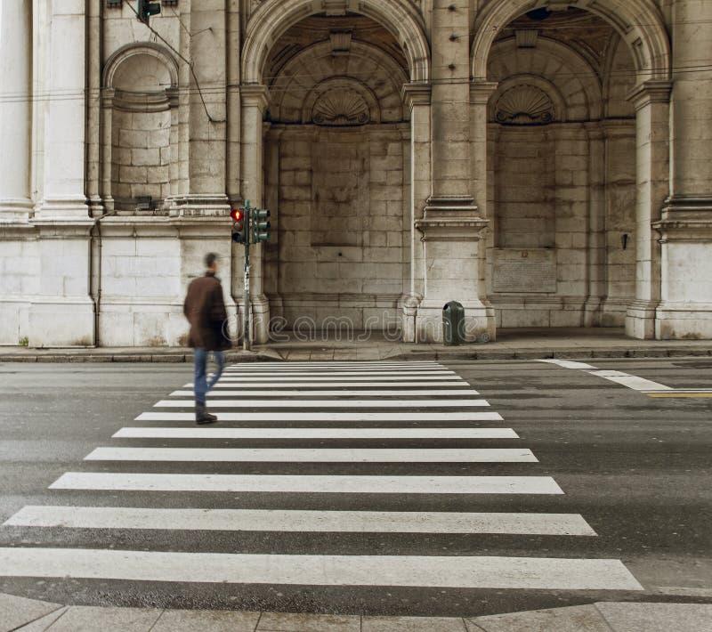 Genoa street. royalty free stock images