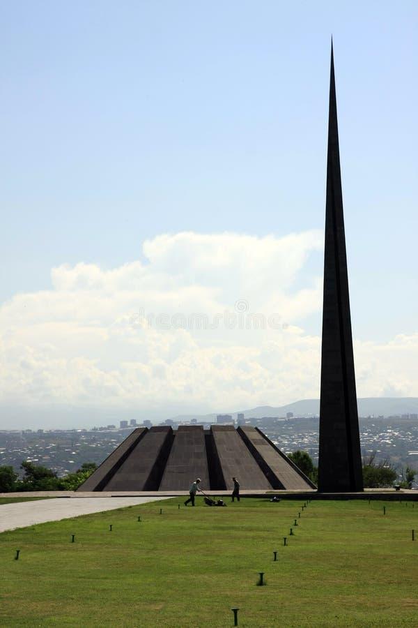 Genocide Memorial in Yerevan, Armenia stock images