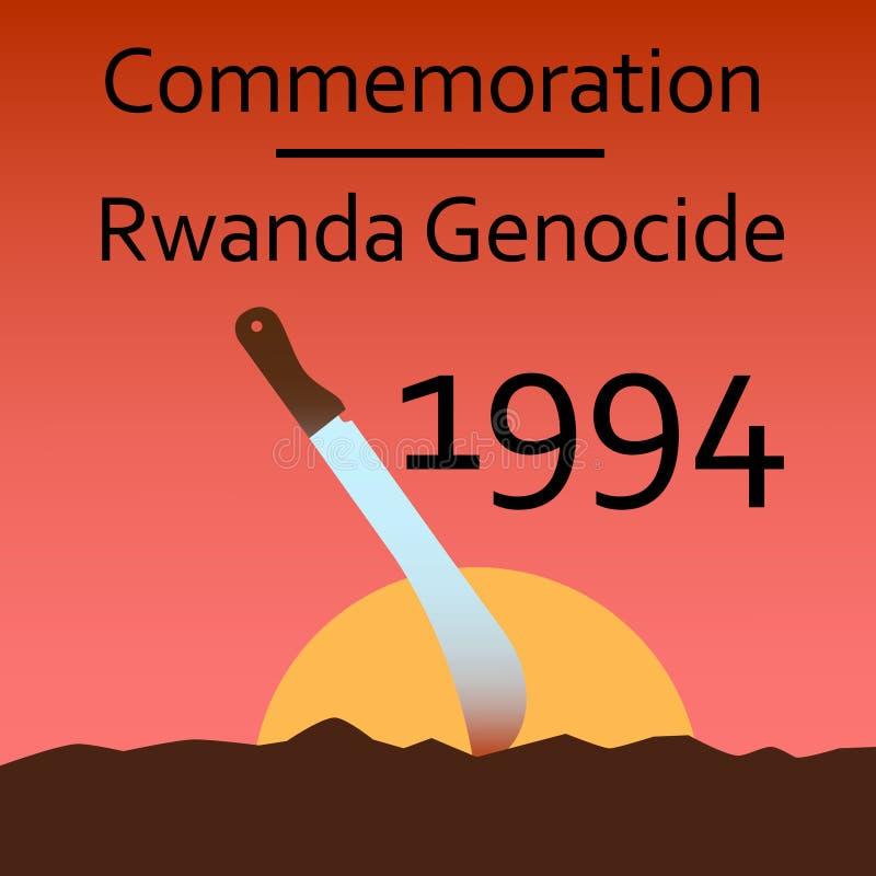 Genocidio de Rwanda de la conmemoración imagen de archivo