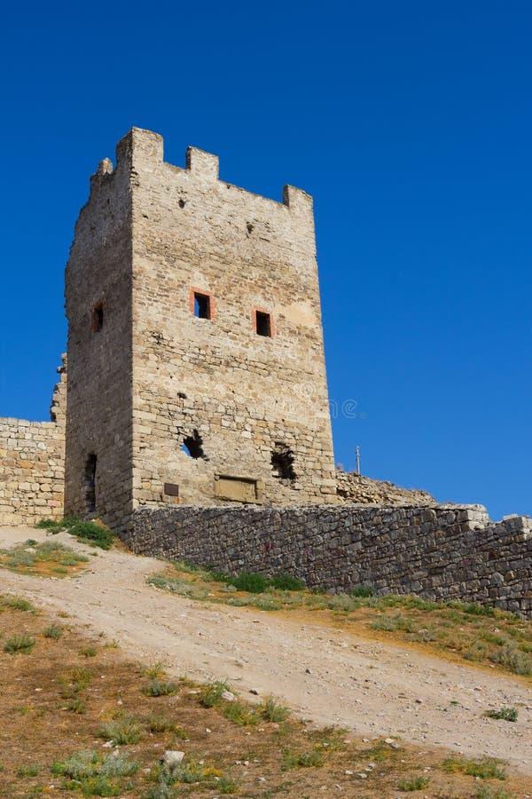 Genoese fästning i Feodosia royaltyfri bild