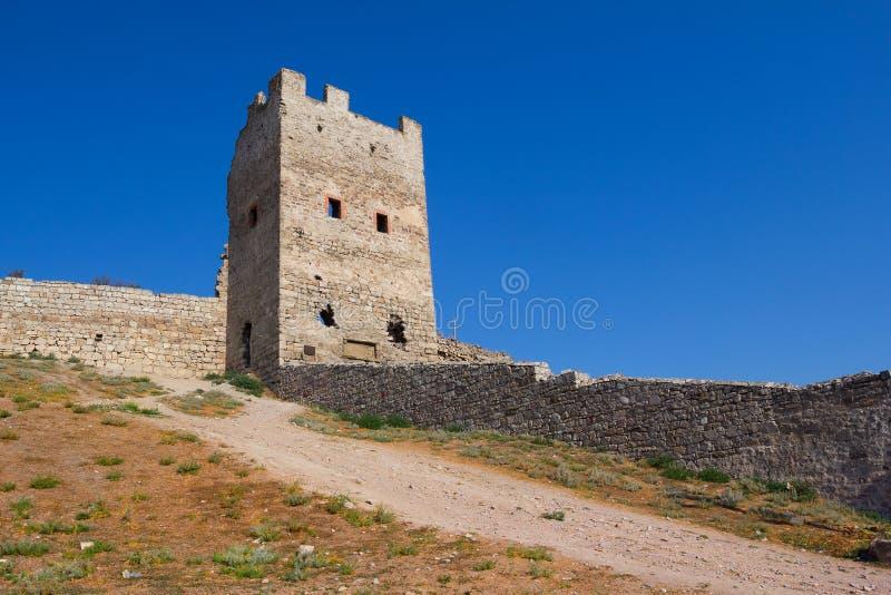 Genoese fästning i Feodosia royaltyfri foto