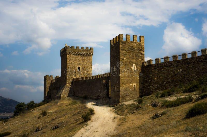 Genoese Festung von Sugdeya lizenzfreies stockfoto