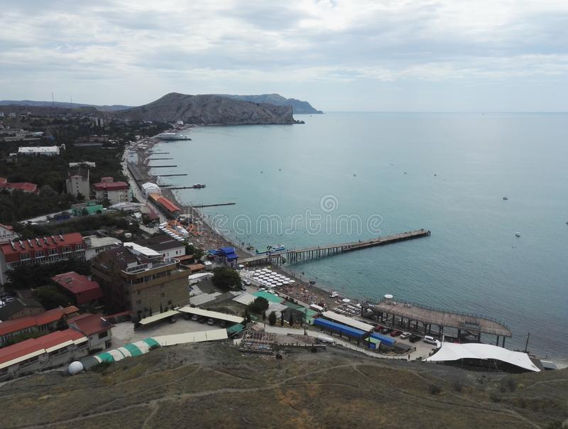 Genoese fortres Sudak Black sea royalty free stock photography