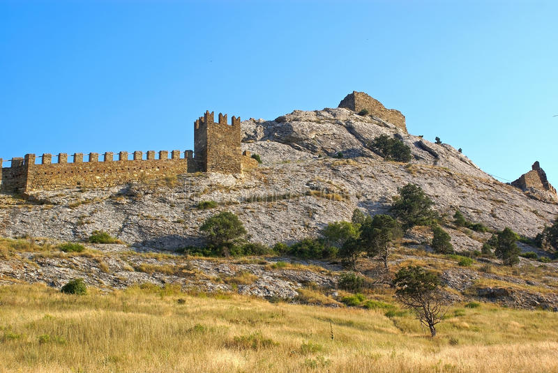 Download Genoese fortress stock photo. Image of sight, wall, fortress - 17576214