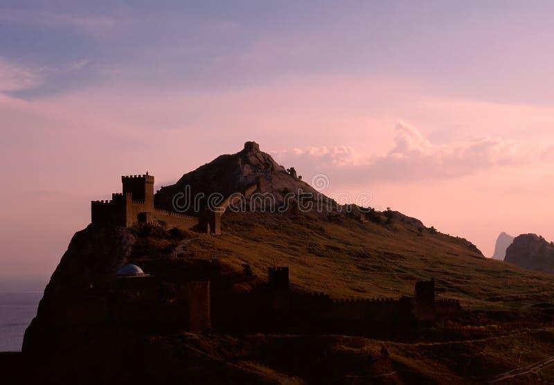 Genoese fortress, Sudak, Crimea, Ukraine stock image