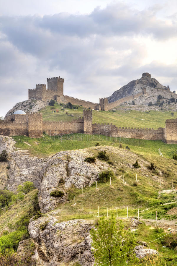 Download Genoese Fortress. Sudak. Crimea Stock Image - Image of hill, mountain: 39510537