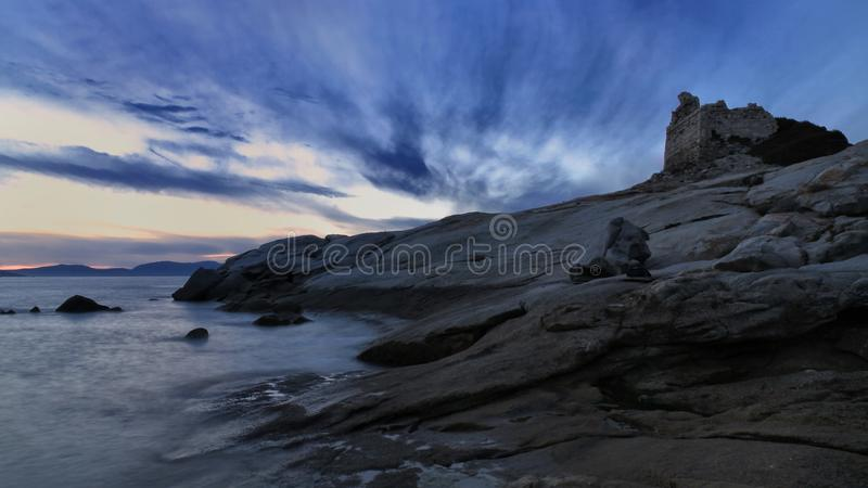 Genoese Tower At Lumio, Corsica Royalty Free Stock Photo