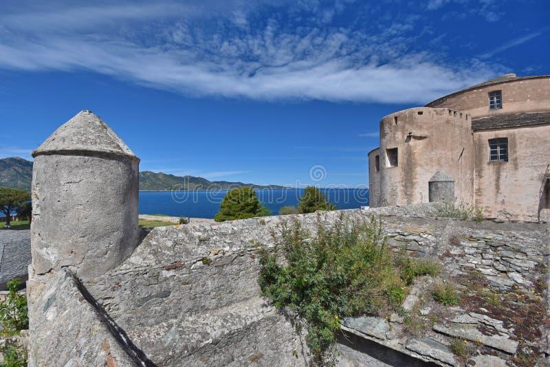 Genoise cytadela w Korsykańskim miasteczko świętym obrazy royalty free