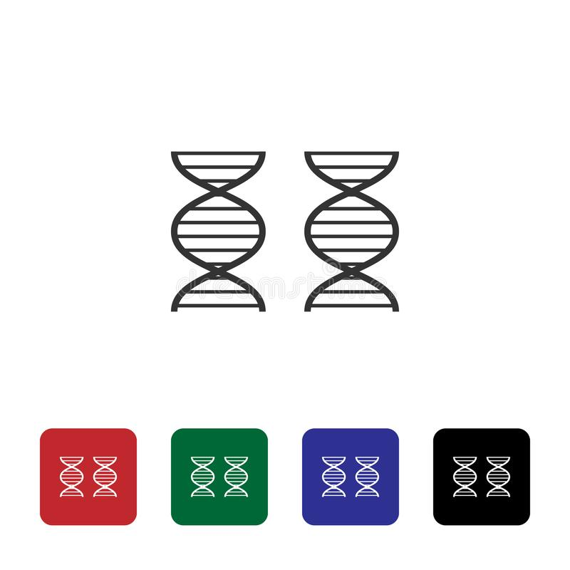 Genom, dna wektoru ikona Prosta element ilustracja od biotechnologii poj?cia Genom, dna wektoru ikona Bioengineering wektor royalty ilustracja