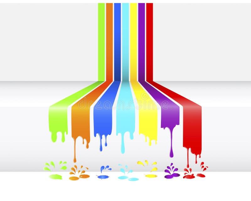 genomblöt målarfärg royaltyfri illustrationer