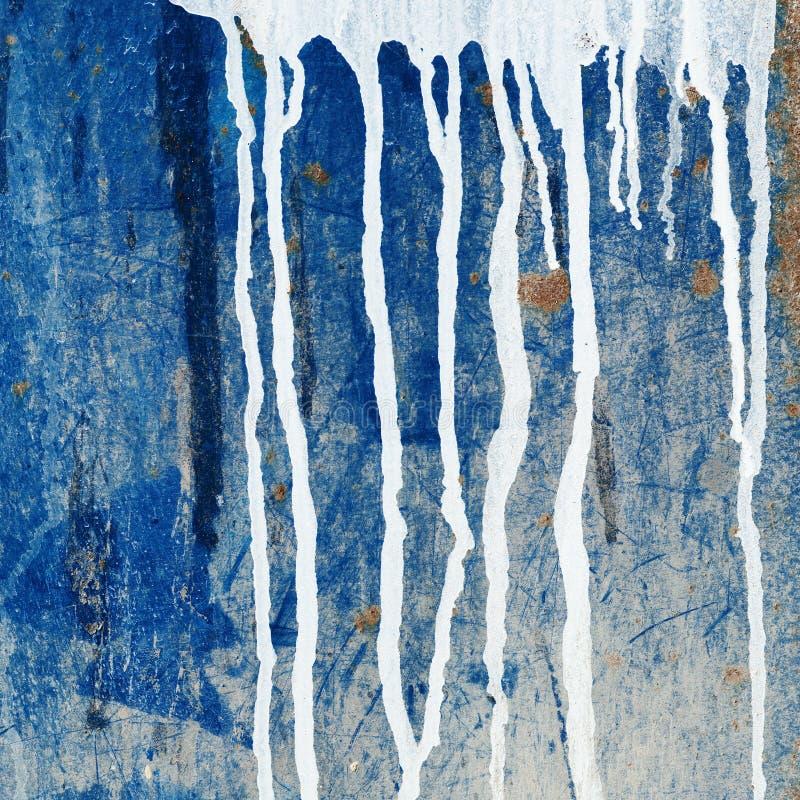 Genomblöt vägg för målarfärg stock illustrationer