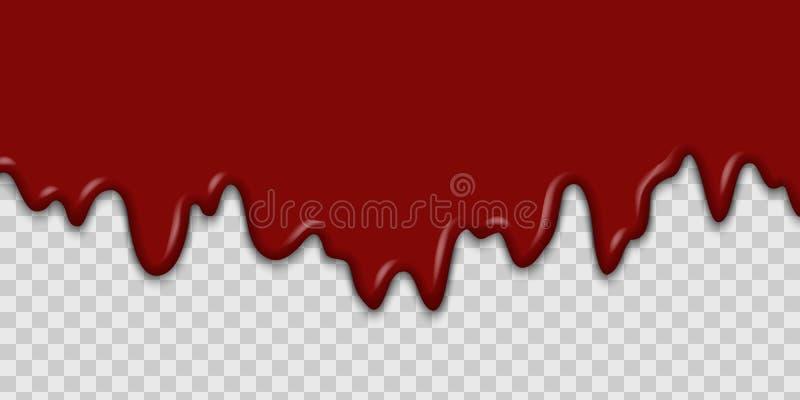 Genomblött blod eller ketchup royaltyfri illustrationer